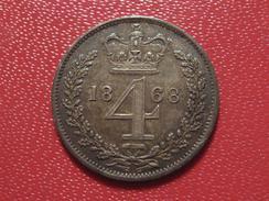 Grande-Bretagne - UK - 4 Pence 1868 Victoria - Superbe, Patine Multicolore 0803 - 1816-1901 : Frappes XIX° S.