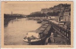 """69 - LYON - Le Pont Sur La Saône Avec La Péniche """" JOYEUSE """" - Lyon"""