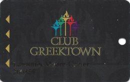 Greektown Casino Detroit, MI Slot Card - Arrows Right - Bottom Rev 72mm Wide - Casino Cards