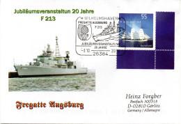 (FA) Sonderumschlag 20 Jahre Fregatte Augsburg F 213 EF SSt 3.10.2009 WILHELMSHAVEN - Schiffe