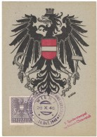 JP36    WIEN - 1945 MAXICARD - AUSTRIA  - COAT OF ARMS ARMOIRIES - Cartoline Maximum