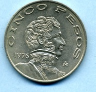 1976 5 PESOS - Mexico
