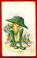 GERMANY PROPAGANDA AND POEM VINTAGE POSTCARD RUSSIAN PUBLISHER 203 - Satirische