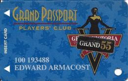 Grand Victoria Casino Rising Sun, IN Slot Card - Grand 55 Senior Sticker - Casino Cards