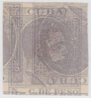 1884-27 CUBA ESPAÑA SPAIN. ALFONSO XII. 1884. Ed.100 5c PROOF PRUEBA MACULATURA IMPERF - Cuba