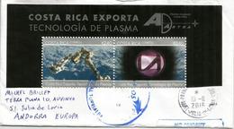 Costa-Rica Exporta Tecnologia De Plasma, Lettre Adressée ANDORRA, Avec Timbre à Date Arrivée, Deux Photos - Costa Rica