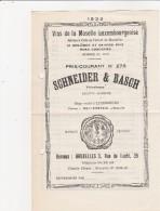 Prix-Courant, Vin De Moselle Luxembourg ,WELLENSTEIN  ,Schneider Et Basch ,n°273 (1933) - Luxembourg