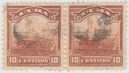 1905-120 CUBA REPUBLICA. 1905. Ed.179. 10c CAMPO ARADO. FANCY STAR PAIR CANCEL. - Kuba