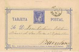 19974. Entero Postal  5 Ct Alfonso XII, Fechador MOTRIL (Granada) 1876, Ed. 83 - Enteros Postales