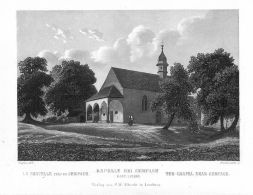 Schlachtkapelle Sempach Luzern Schweiz Original Stahlstich Gravure - Estampas & Grabados