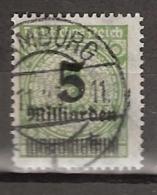 Deutsches Reich 1923 5M Op 4M - Nicht Geprüft - Mi 333 Gestempelt - Duitsland