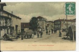 Auboue Place De La République   Carte Toilée - Francia