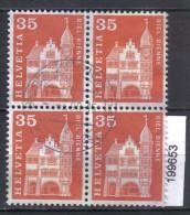 Schweiz Zst. 361 / Mi. 702 Viererblock O - Schweiz