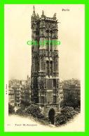 PARIS (75) - TOUR ST-JACQUES - B. F. - DOS NON DIVISÉ - - Other Monuments