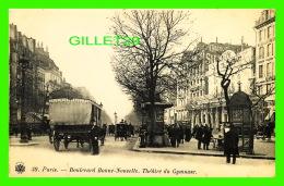 PARIS (75) - THÉÂTRE DU GYMNASE ET LE BOULEVARD BONNE-NOUVELLE  EN 1900 - ANIMÉE - DOS NON DIVISÉ - - Other Monuments