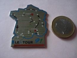 20161111.64 LE TOUR FRANCE 1991 CYCLISME CARTE COMPLETE - Cycling