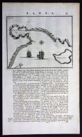 - Tasmania Marion Bay Australia Valentijn Engraving Map - Stiche & Gravuren