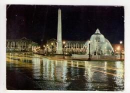 CP 10*15-ZB415-PARIS PLACE DE LA CONCORDE VUE DE NUIT 1961 - Places, Squares
