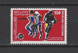TUNISIE . YT  847  Neuf **  1er Tournoi Mondial Juniors De Football  1977 - Tunisia (1956-...)