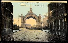 EXPOSITION DE CHARLEROI 1911 - AVENUE DE WATERLOO - Rare ! Superbe Condition - Charleroi