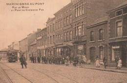 Marchienne Au -Pont.   Rue De Mons Et Pont Du Chemin De Fer.+tram - België