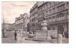 Allemagne Leipzig Rossplatz Mit Magdebrunnen Carte Animée Non Voyagée - Leipzig