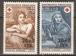 REUNION   -  1969 .  Y&T N° 388 à 389 **.  Croix - Rouge. - Réunion (1852-1975)