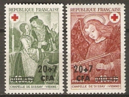 REUNION   -  1970 .  Y&T N° 391 à 392 **.  Croix - Rouge. - Réunion (1852-1975)