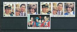 1981 Guernsey Complete Set Golden Wedding MNH/Postfris/Neuf Sans Charniere - Guernesey
