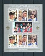 1981 Guernsey Complete M/Sheet Golden Wedding MNH/Postfris/Neuf Sans Charniere - Guernesey