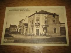 """CLAVIER-STATION  (Vicinal)  Restaurant Lannoy Et Rue Du Moulin     """"Pub Bières Piedboeuf Et Haecht"""" - Clavier"""