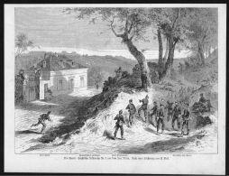 Roissy Fort Paris Frankreich France Krieg Wood Engraving Holzstich - Prints & Engravings