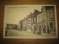"""CLAVIER  (Station)  Rue De La Gare    """"Boulangerie-Pâtisserie  Robert Olivier""""   Pub  Piedboeuf - Clavier"""