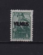1941- Lietuva, Vilnius-15k-MNH, Double Overprint. - Occupation 1938-45