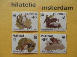 Philippines 1991, WWF FAUNA PHILIPPINE EAGLE APENAREND: Mi 2038-41, ** - W.W.F.