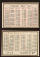CALENDARIETTO DEL 1943 - LIBRERIA NATALE - LECCE - Calendarios
