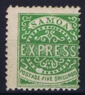 Samoa 1877 SG  9  MH/* Falz/ Charniere Line Broken  Perfo 12   CV  3750 UKP - Samoa
