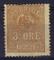 Sweden 1862 Mi Nr 14 I   Not Used (*)