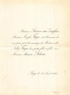 SIMON VAN ZUYLEN JOSEPH FAYN NELLY MAURICE LALOUX LIEGE 1895 - Mariage