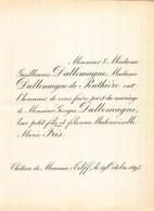 GUILLAUME DALLEMAGNE DE PONTHIERE GEORGES MARIE FRIS CHATEAU DE MONCEAU TILFF 1895 - Hochzeit