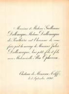 GUILLAUME DALLEMAGNE DE PONTHIERE JULES ALIX OPHOVEN CHATEAU DE MONCEAU TILFF 1895 - Hochzeit