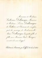 GUILLAUME DALLEMAGNE DE PONTHIERE MARIE PAUL BERRYER  CHATEAU DE MONCEAU TILFF 1895 - Hochzeit