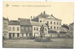 +++ CPA - GEMBLOUX - Place St Guibert Et Couvent Des Soeurs N-D- Imprimerie - Carte Animée - G.Hermans  // - Gembloux