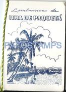 61396 BRAZIL BRASIL RIO DE JANEIRO ILHA PAQUETA MULTI VIEW 16 SIXTEEN MINI PHOTO NO POSTAL TYPE POSTCARD - Brazil