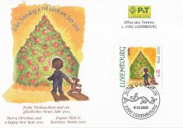 Luxemburg - FD Kaart - 5 December 2000 - Kerstmis/Weihnachten/Christmas - M 1517 - Marcofilie - EMA (Print Machine)