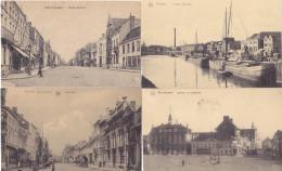 Roeselare - Roulers - Lot 13 Cartes PK's (animatie, Oorlog...) - Roeselare