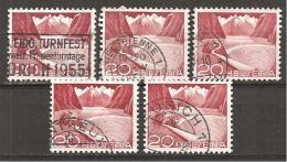 Schweiz 1949 // Michel 533 O 5x (021.421) - Gebruikt