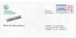 ENTIER POSTAL PAPR - POSTREPONSE France Alzheimer 15P062 - Ciappa Kavena - Entiers Postaux