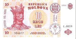 Moldova - Pick 10a - 10 Lei 1994 - Unc - Moldavia