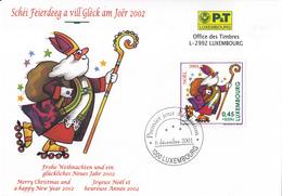 Luxemburg - FD Kaart - 6 December 2001 - Kerstmis/Weihnachten/Christmas - M 1553 - Marcofilie - EMA (Print Machine)